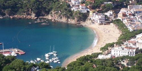 Image showing LLafranc beach taken from El Far de San Sebastian, Costa Brava
